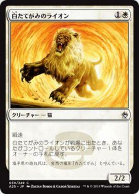 白たてがみのライオン(Whitemane Lion)マスターズ25