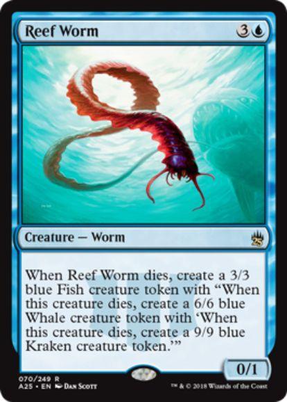 【マスターズ25】浅瀬蟲(Reef Worm)が統率者2014より再録決定!