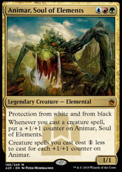 【マスターズ25】精霊の魂、アニマー(Animar, Soul of Elements)が初代「統率者」より神話レアで再録!