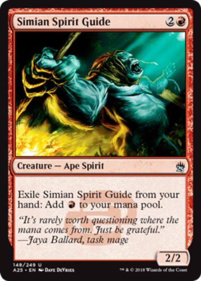 【マスターズ25】猿人の指導霊(Simian Spirit Guide)が次元の混乱より再録!レアリティはアンコモンに格上げ!