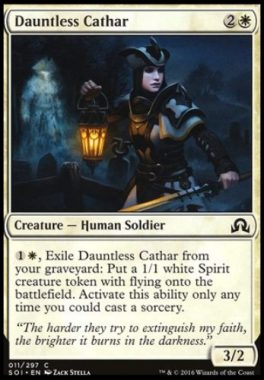不屈の聖戦士(Dauntless Cathar)イニストラードを覆う影