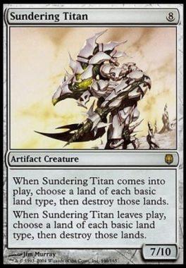 隔離するタイタン(Sundering Titan)ダークスティール