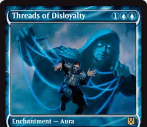 不忠の糸(Threads of Disloyalty)が「Signature Spellbook: Jace」にジェイスをイメージした新規アートで再録決定!
