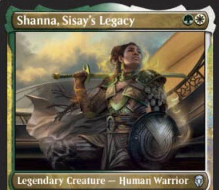 【ドミナリア】シッセイの後裔、シャナが公開!アンコモンの緑白伝説のクリーチャー!自軍のクリーチャーと同数のP/Tを持ち、相手の能力の対象にならない!