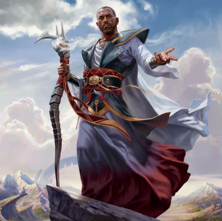 ドミナリアの英雄、テフェリー(Teferi, Hero of Dominaria)のフルアート・イラスト