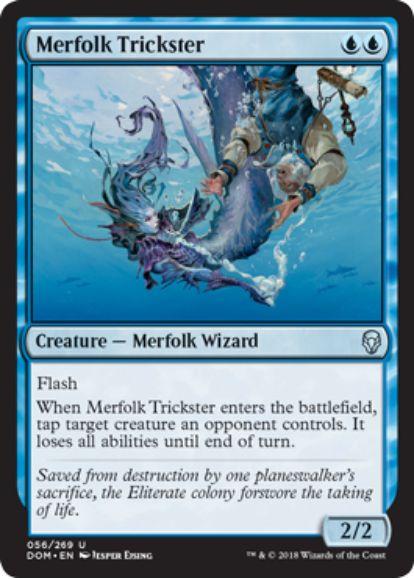 マーフォークのペテン師(Merfolk Trickster)ドミナリア英語版