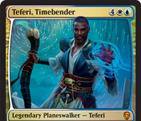 【ドミナリア】時を曲げる者、テフェリー(Teferi, Timebender)が公開!プレインズウォーカーデッキ限定収録の新テフェリーで、アンタップ&ライフゲイン・ドロー&追加ターンの能力を有する!