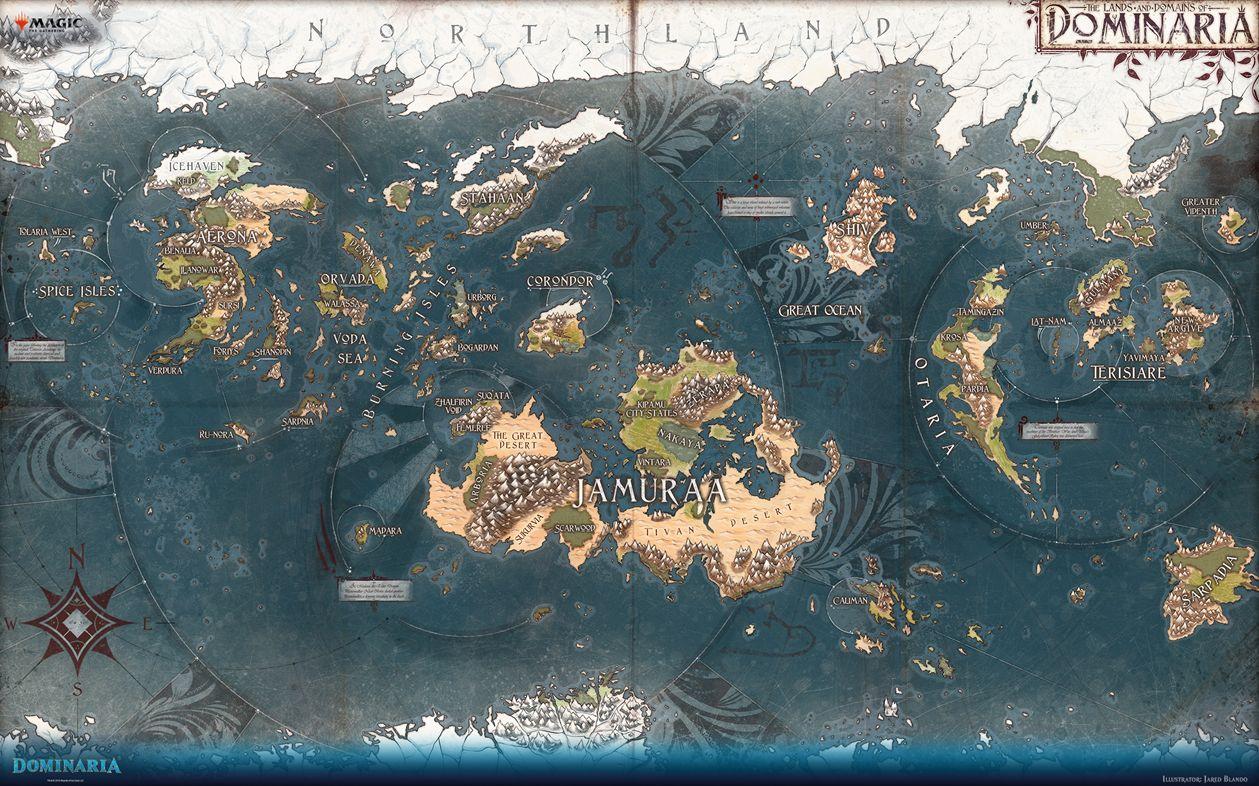 ドミナリア次元の世界地図