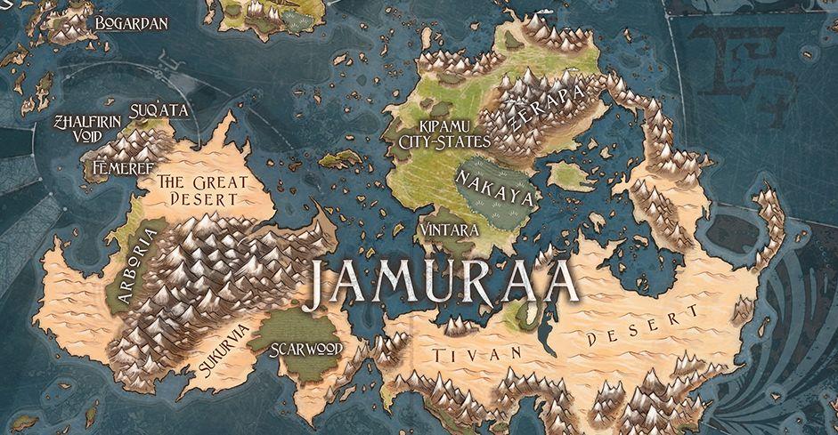 MTG公式壁紙のラインアップに「ドミナリアの地図」が追加!かなり本格的なドミナリア次元の世界地図!