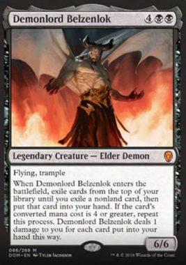 悪魔王ベルゼンロック(Demonlord Belzenlok)ドミナリア・英語版