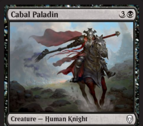 【ドミナリア】黒コモンの騎士「Cabal Paladin」が公開!4マナ4/2&歴史的な呪文を唱えるたびに各対戦相手に2ダメージ!