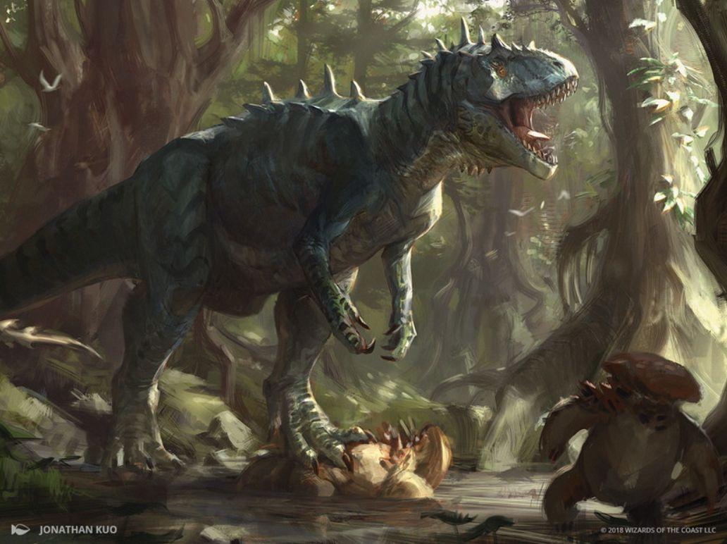 縄張り持ちのアロサウルス(Territorial Allosaurus)フルアート・イラスト
