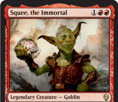 【ドミナリア】不死身、スクイー(Squee, the Immortal)が公開!3マナ2/1&墓地からも追放領域からも唱えられる伝説のゴブリン!