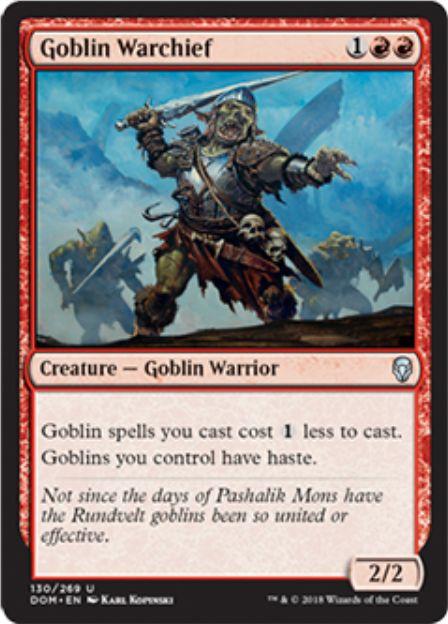 ゴブリンの戦長(Goblin Warchief)ドミナリア・英語版