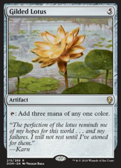 金粉の水蓮(Gilded Lotus)ドミナリア・英語版