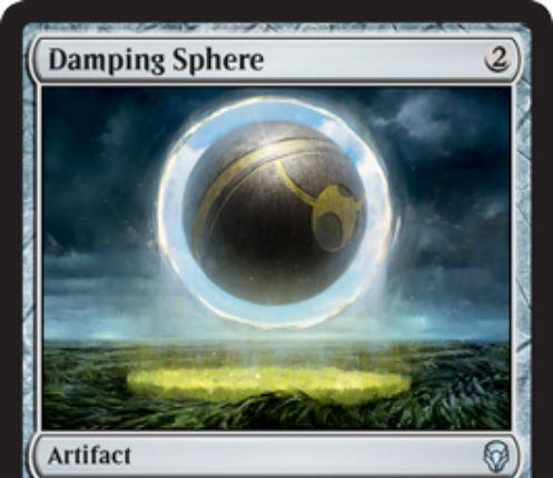 【ドミナリア】減衰球(Damping Sphere)が公開!2マナで設置するアーティファクトで、土地が生み出す2点以上のマナを無色1点に変える!同一ターン中の2枚目以降の呪文のコストを重くする効果も!