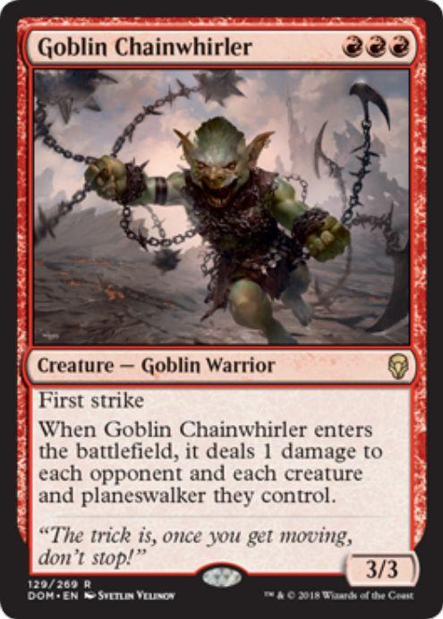 ゴブリンの鎖回し(Goblin Chainwhirler)ドミナリア・英語版
