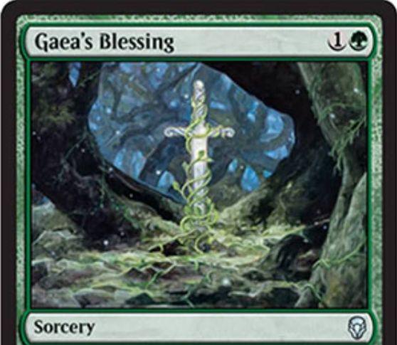 【ドミナリア】ガイアの祝福(Gaea's Blessing)が新規イラストで再録決定!