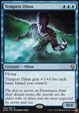 大嵐のジン(Tempest Djinn)ドミナリア・英語版