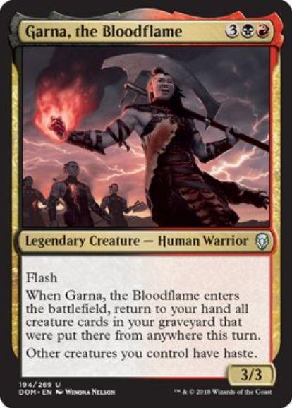 血の炎、ガルナ(Garna, the Bloodflame)ドミナリア・英語版