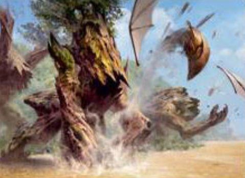 【ドミナリア】森の目覚め(Sylvan Awakening)が公開!緑2のソーサリーで、次のターンまで自軍の全土地を2/2「到達」「破壊不能」「速攻」のエレメンタルにする!