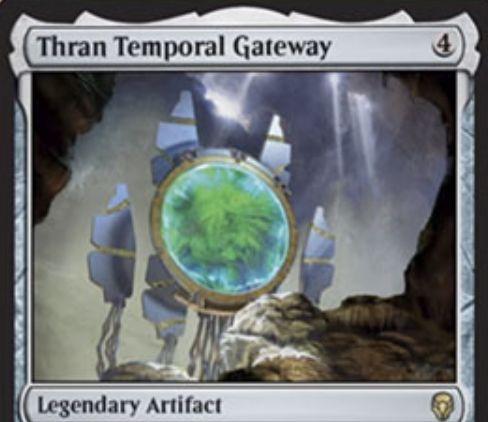 【ドミナリア】伝説のアーティファクト「Thran Temporal Gateway」が公開!4マナで設置し、4マナ&タップで墓地の「歴史的なパーマネント」1枚を戦場に出せる!