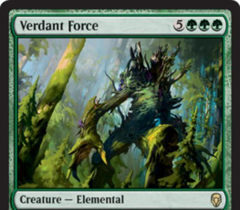 【ドミナリア】新緑の魔力(Verdant Force)が新規イラストでレア枠にて再録決定!