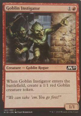 Goblin Instigator(新規カード)基本セット2019