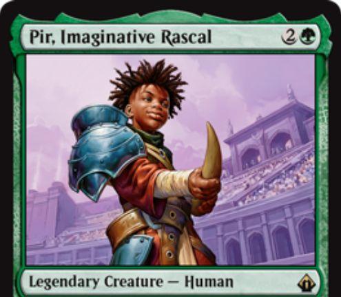 Pir, Imaginative Rascal(バトルボンド)が公開!緑2で1/1の伝説人間!チームメンバーのクリーチャーが得るカウンターの数を1個増やす!キーワード能力「Partner」で対応カードのサーチも可能!