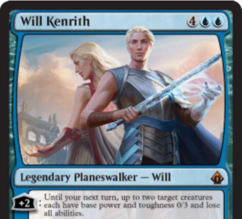 【バトルボンド】青のPW「Will Kenrith」が公開!統率者としても使用可能で、赤PW「Rowan Kenrith」との共闘ギミックも持つ!