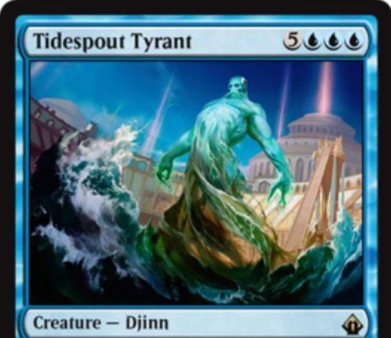 【バトルボンド】潮吹きの暴君(Tidespout Tyrant)がMTG公式壁紙のラインナップに追加!