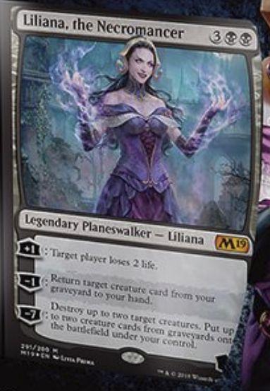 Liliana, the Necromancer(基本セット2019 プレインズウォーカーデッキ)英語版