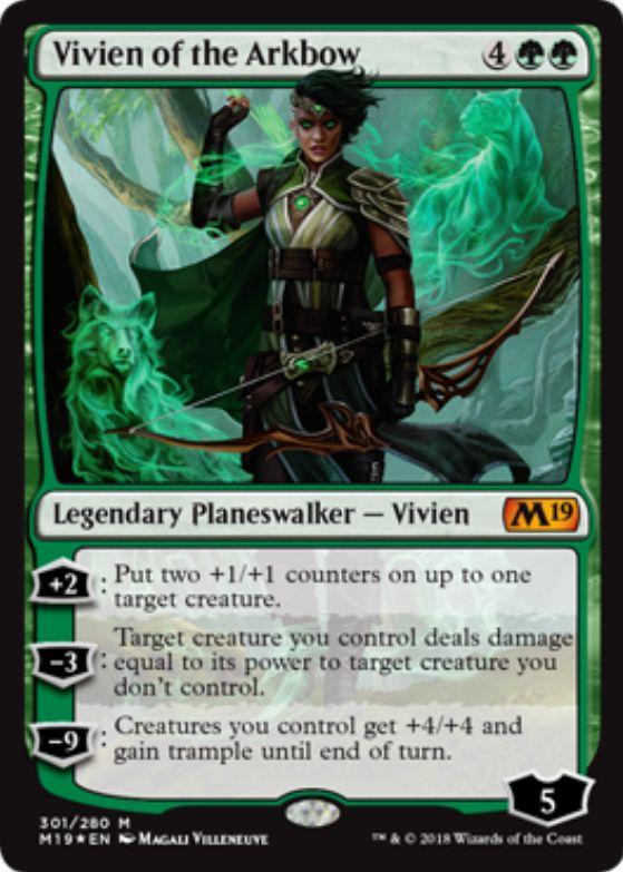 Vivien of the Arkbow(基本セット2019 プレインズウォーカーデッキ)英語版