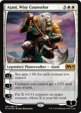 Ajani, Wise Counselor(基本セット2019 プレインズウォーカーデッキ)英語版