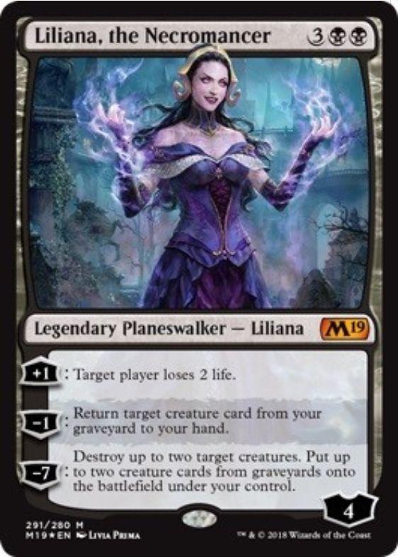 Liliana, the Necromancer(基本セット2019 プレインズウォーカーデッキ)英語版・完全版