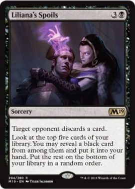 Liliana's Spoils(基本セット2019)