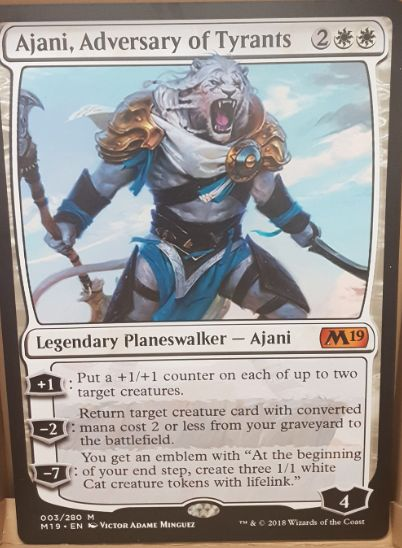 Ajani, Adversary of Tyrants(基本セット2019 英語版)