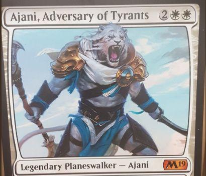 【基本セット2019】白神話PWアジャニ「Ajani, Adversary of Tyrants」が公開!白白2で初期忠誠4!