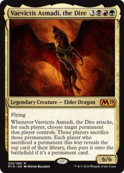 Vaevictis Asmadi, the Dire(基本セット2019 英語)
