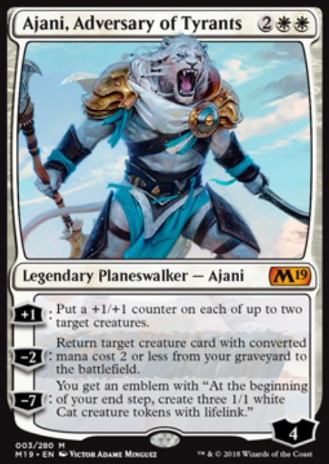 Ajani, Adversary of Tyrants(基本セット2019 英語版)公式カード画像