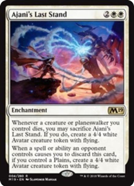 Ajani's Last Stand(基本セット2019)英語版