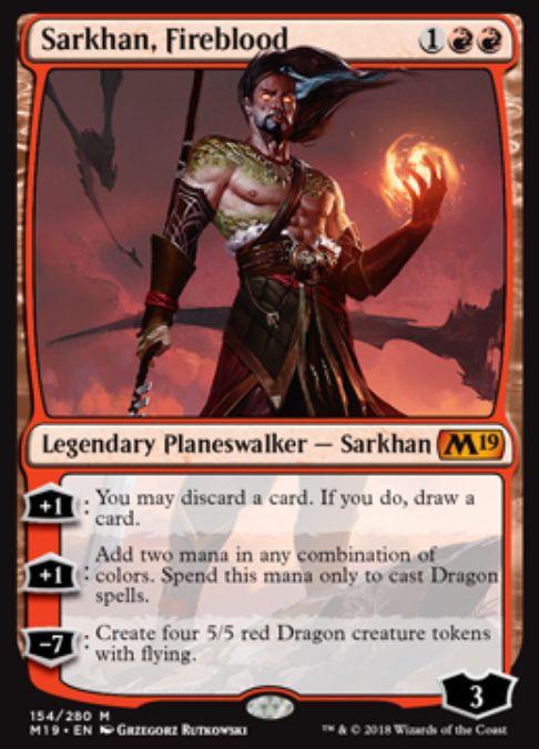 Sarkhan, Fireblood(基本セット2019)英語版