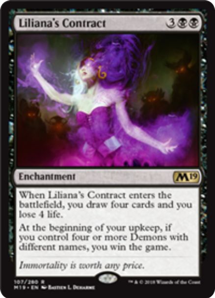 Liliana's Contract(【基本セット2019】)