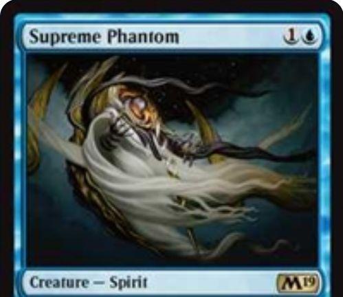 【基本セット2019】青レアのスピリット「Supreme Phantom」が公開!青1で1/3飛行&他のスピリットに+1/+1修正を付与!