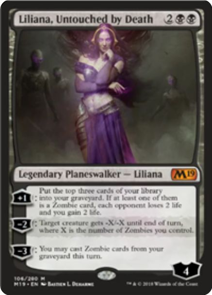 Liliana, Untouched by Death(基本セット2019)