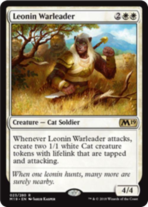 Leonin Warleader(基本セット2019)