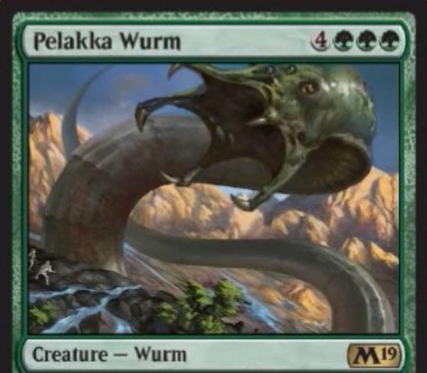 【基本セット2019】ペラッカのワーム(Pelakka Wurm)がレア昇格にて「エルドラージ覚醒」より再録!