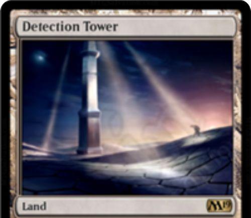 【基本セット2019】レア土地「Detection Tower」が公開!1マナ&タップで対戦相手と対戦相手の全クリーチャーの「呪禁」を消失させる!