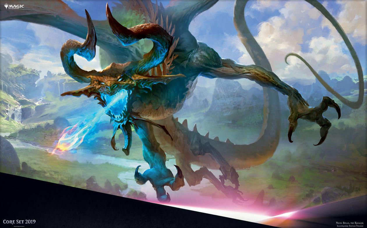 【基本セット2019】破滅の龍、ニコル・ボーラス(Nicol Bolas, the Ravager)がMTG公式壁紙のラインナップに追加!