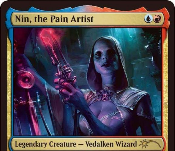 ジャッジ褒章プロモ版「苦痛の芸術家、ニン/Nin, the Pain Artist」が公開!MTG「統率者」からの再録!